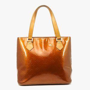 Auth Louis Vuitton Houston Bronze Vernis #3850L12